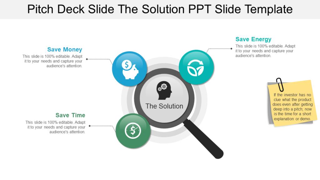 Solution Slide for Pitch Deck