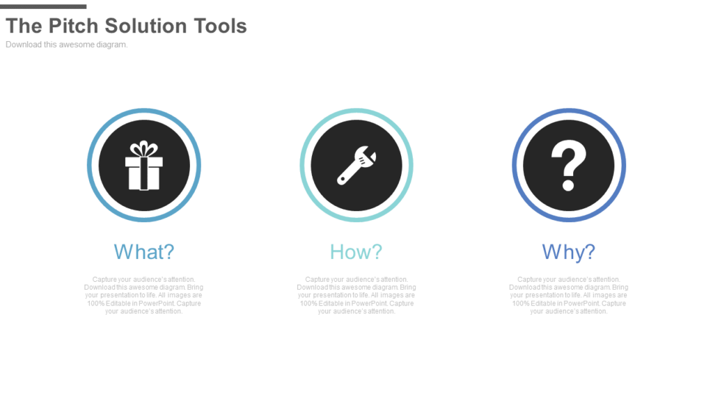 The Pitch Solution Tools PowerPoint Template