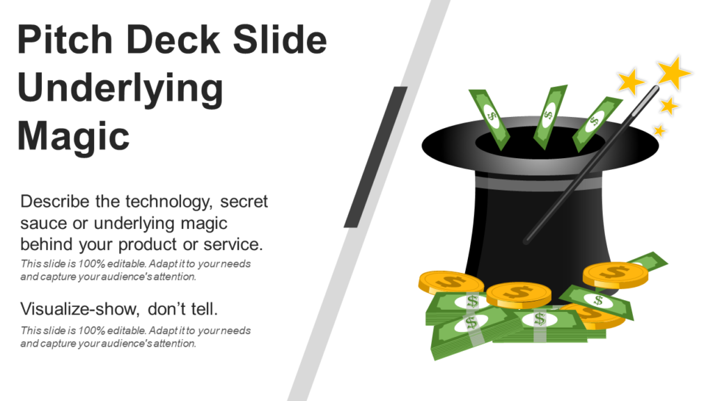 Underlying Magic PPT Slide for Pitch Deck
