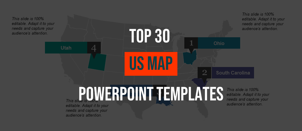 Best 30 Editable US Map PowerPoint Templates for Business ...