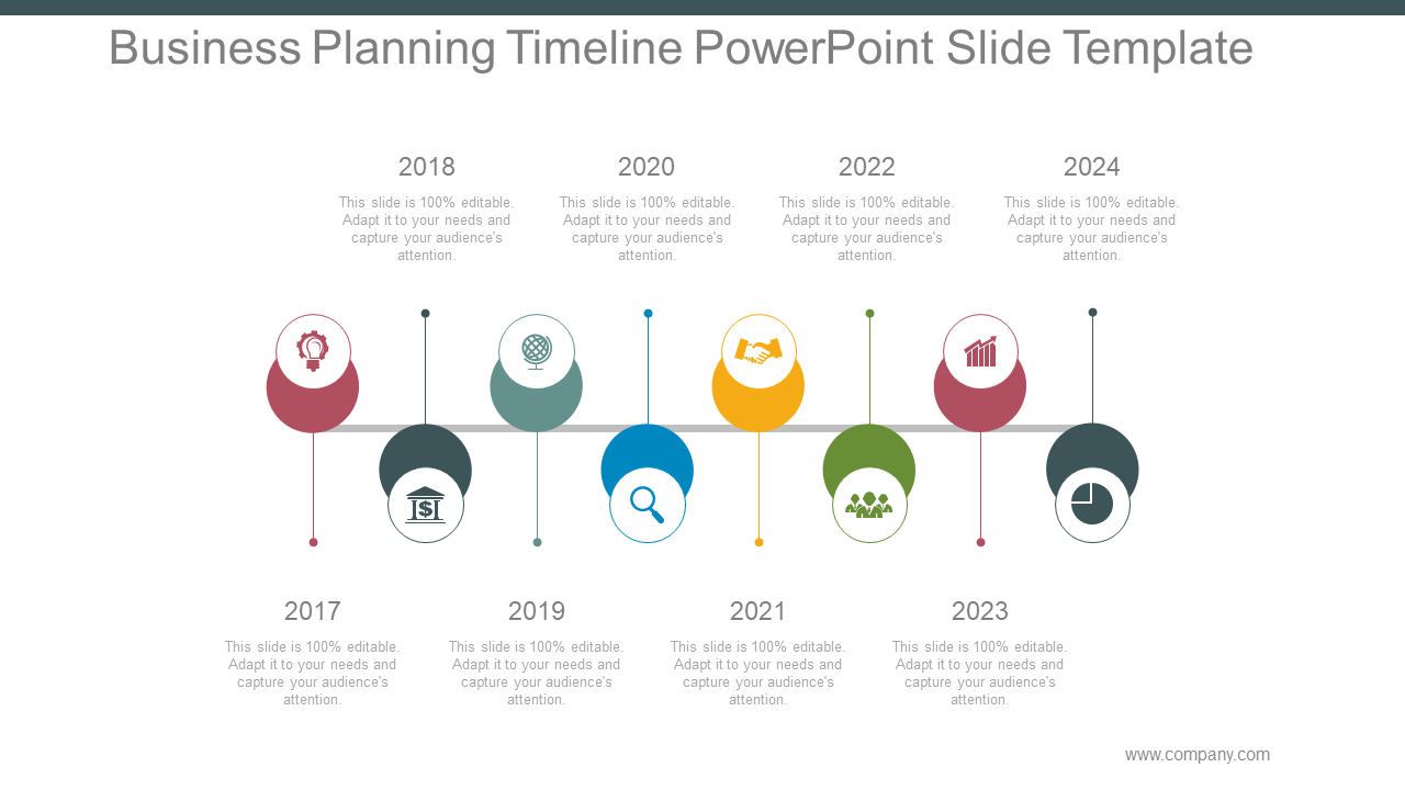 Business Planning Timeline PPT Slide