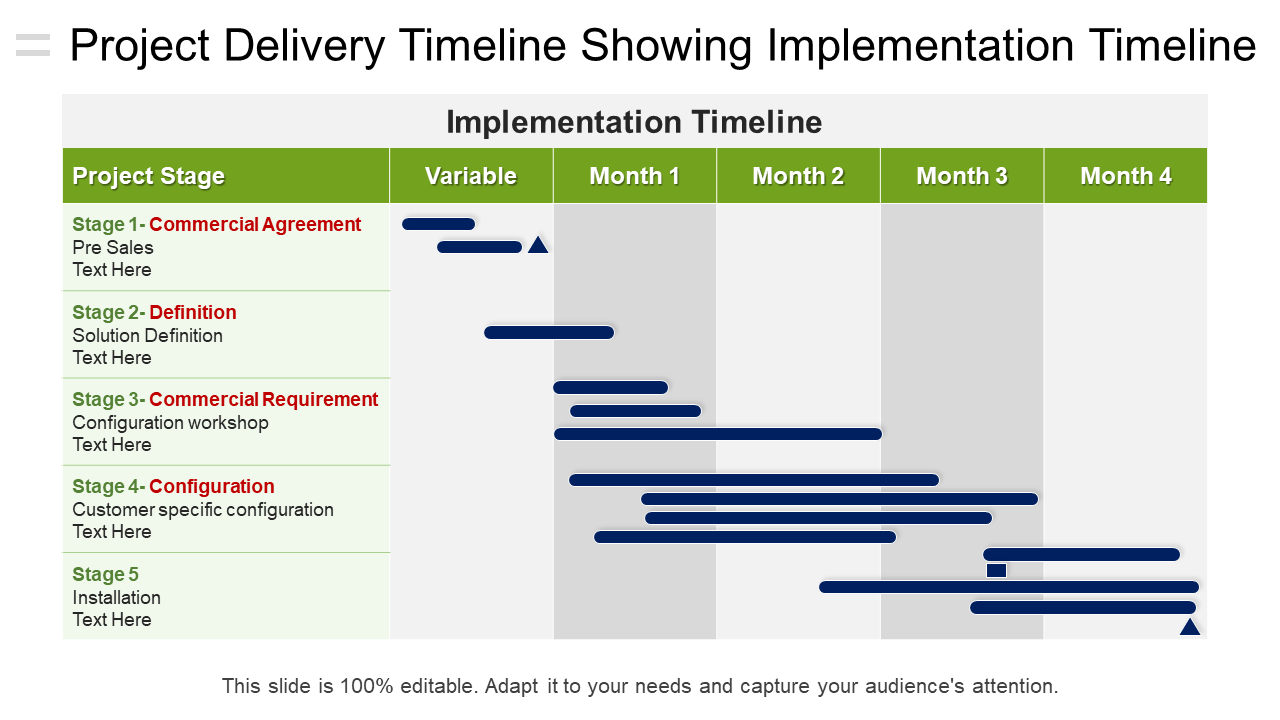 Project Delivery Timeline PowerPoint Template
