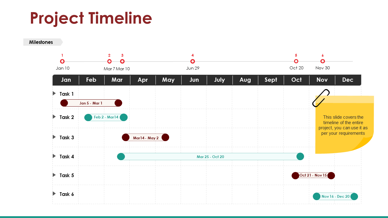 Project Planning and Timelines PPT Diagram
