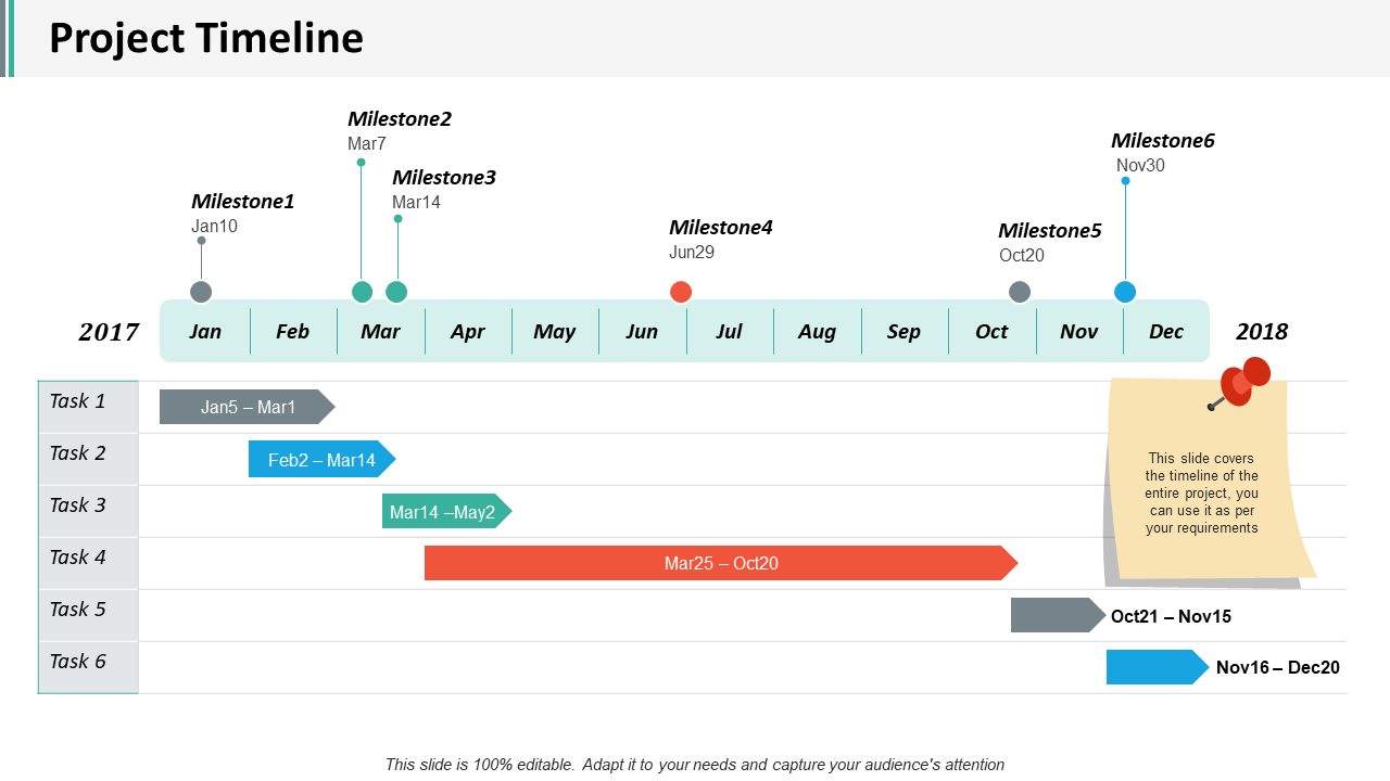 Project Planning and Timelines PPT Slide