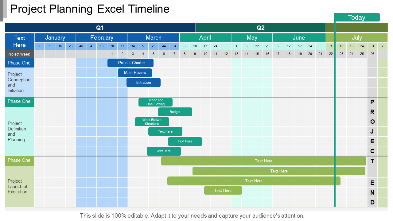 Project Planning and Timelines PowerPoint Slide