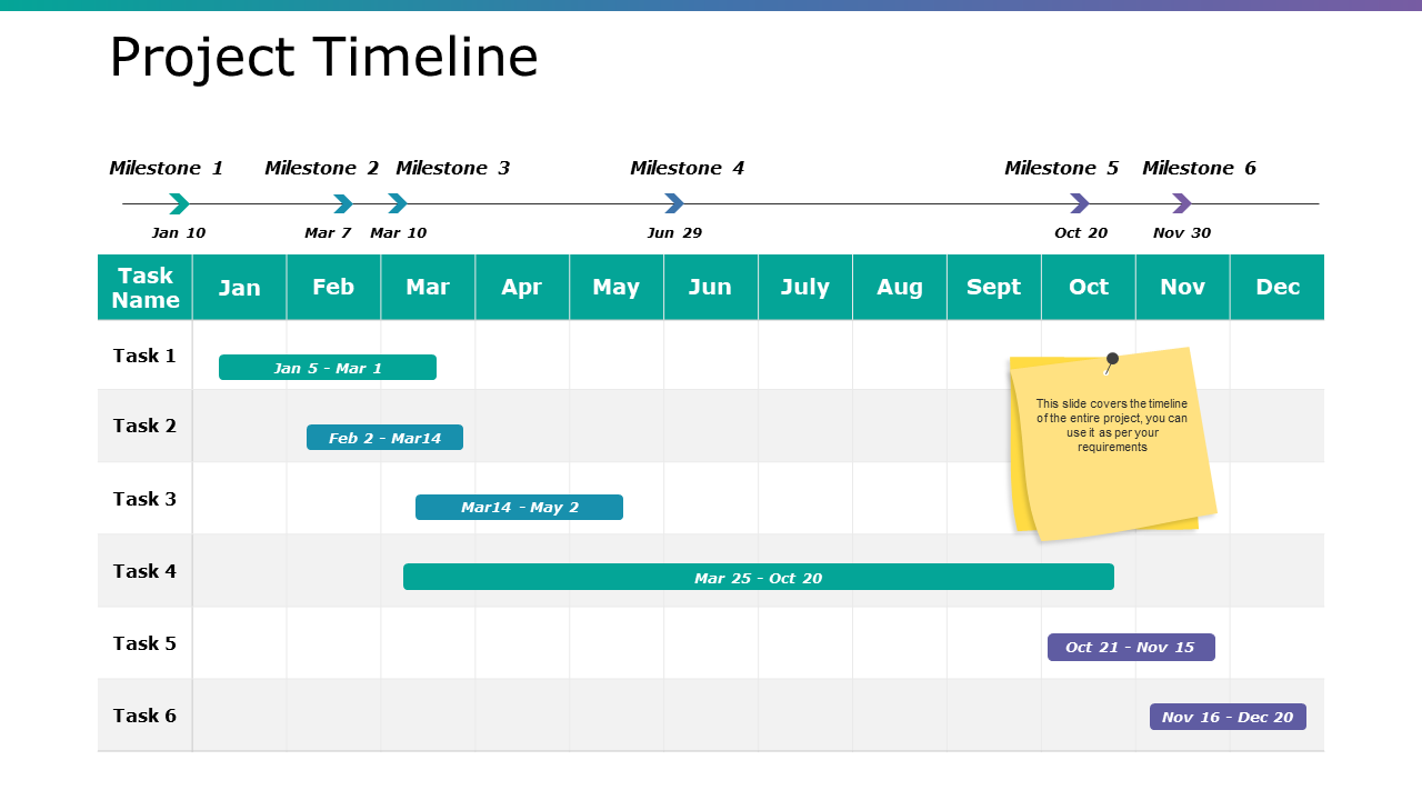 Project Timeline PPT Slide