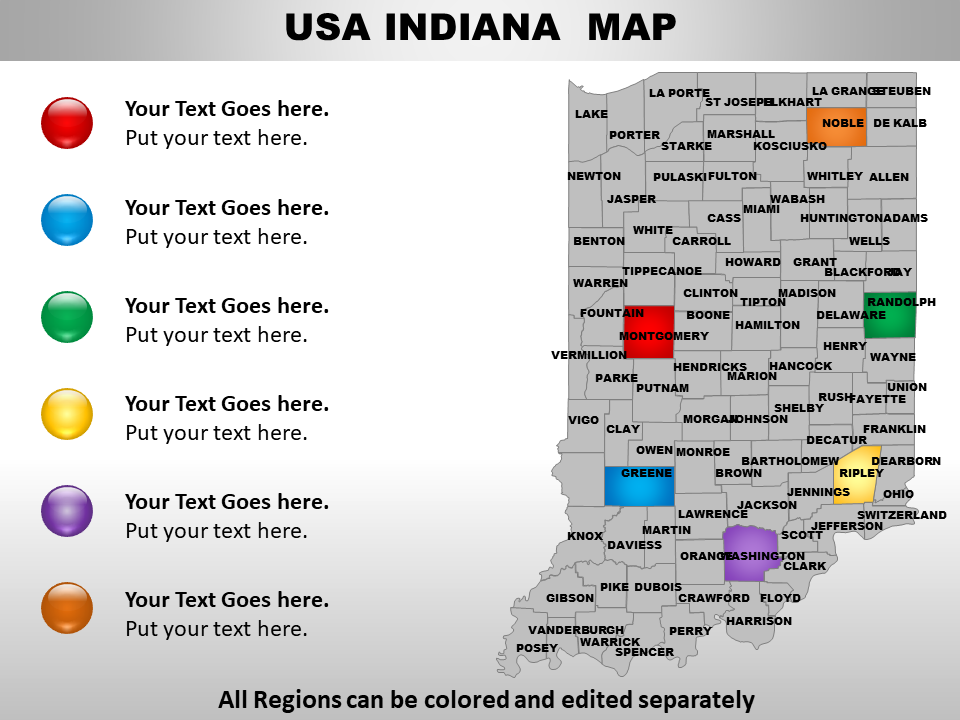 US Indiana PowerPoint Template