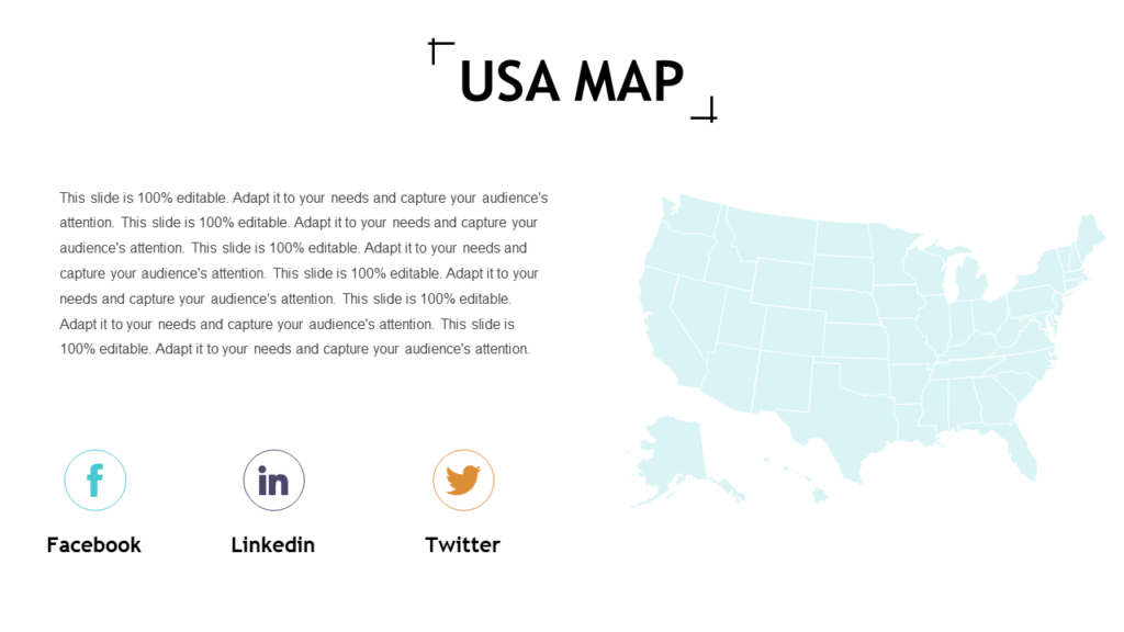 US Map PowerPoint Diagram