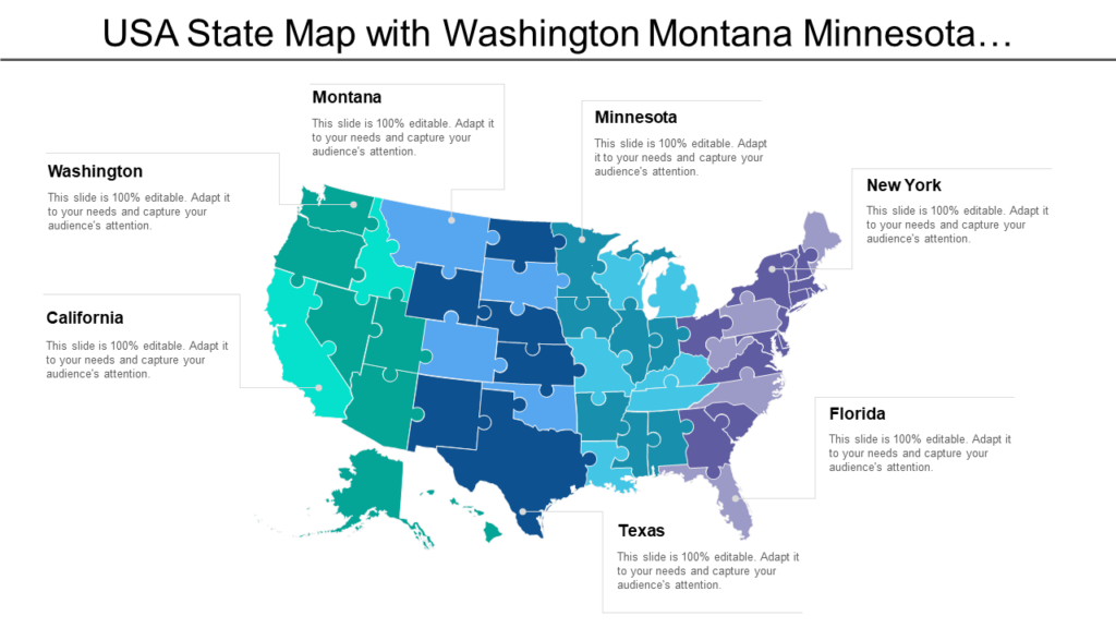 US Map PowerPoint Graphic Diagram
