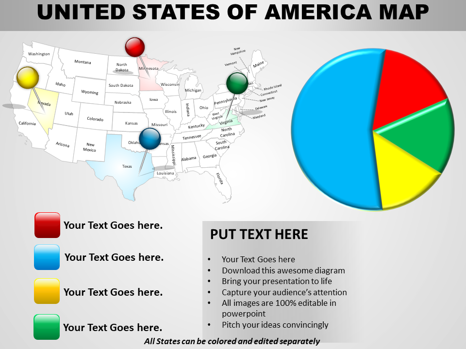 US Map PowerPoint Slide