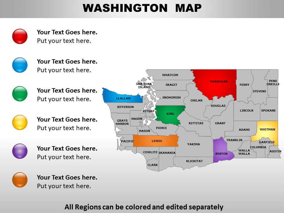 US Map Washington State PowerPoint Slide