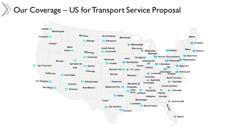 US Map for Service Proposal