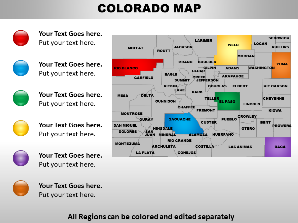 US Map showing Colorado Map
