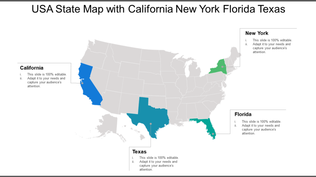 US State Map PowerPoint Template