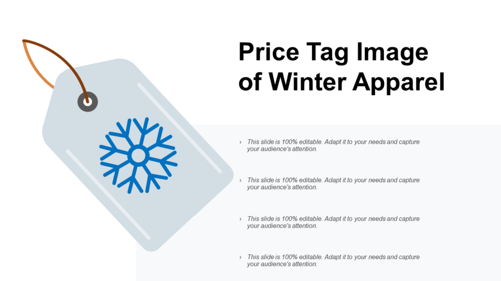 Price Tag Image Of Winter Apparel