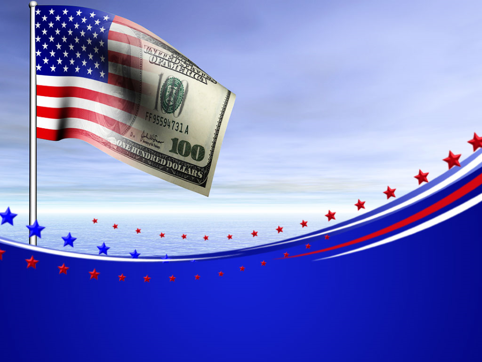 American US Dollar Flag