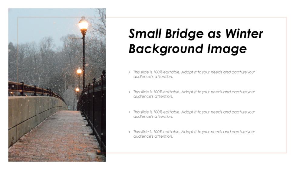 Small Bridge As Winter Background
