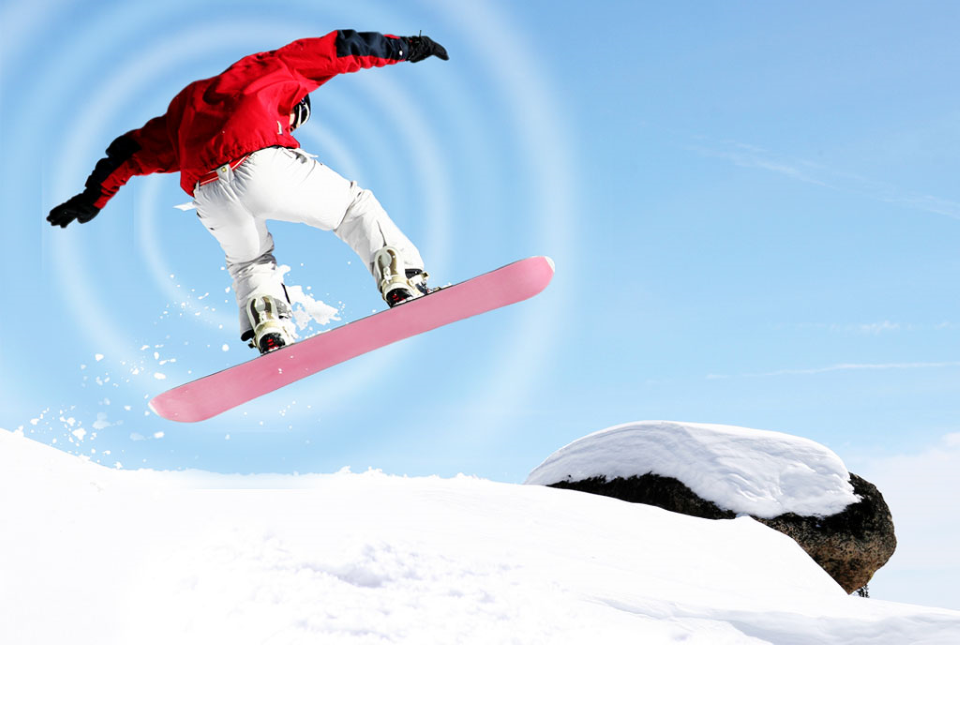 Snowboarder Jumping Sports
