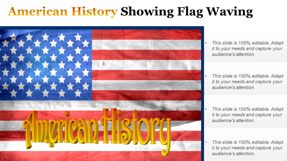 American History Showing Flag
