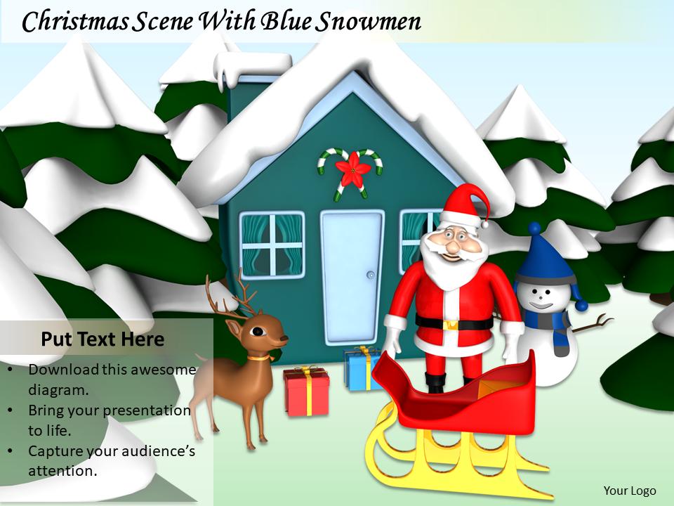 Christmas At Snow Hut Village Image Graphics
