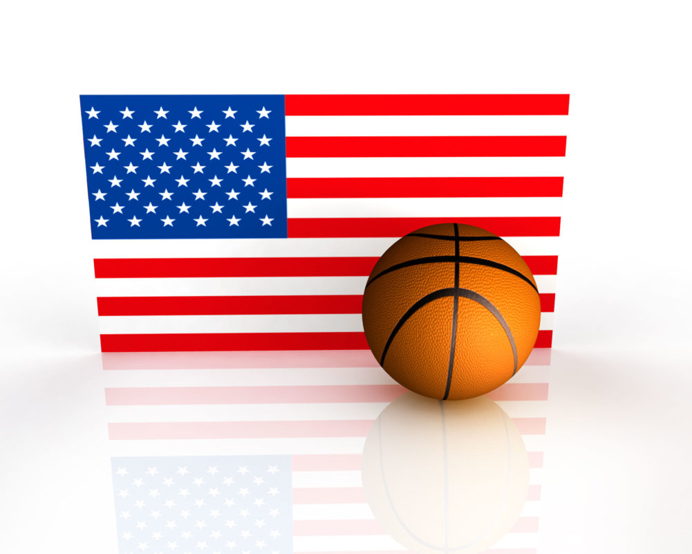 Flag of America With Basketball
