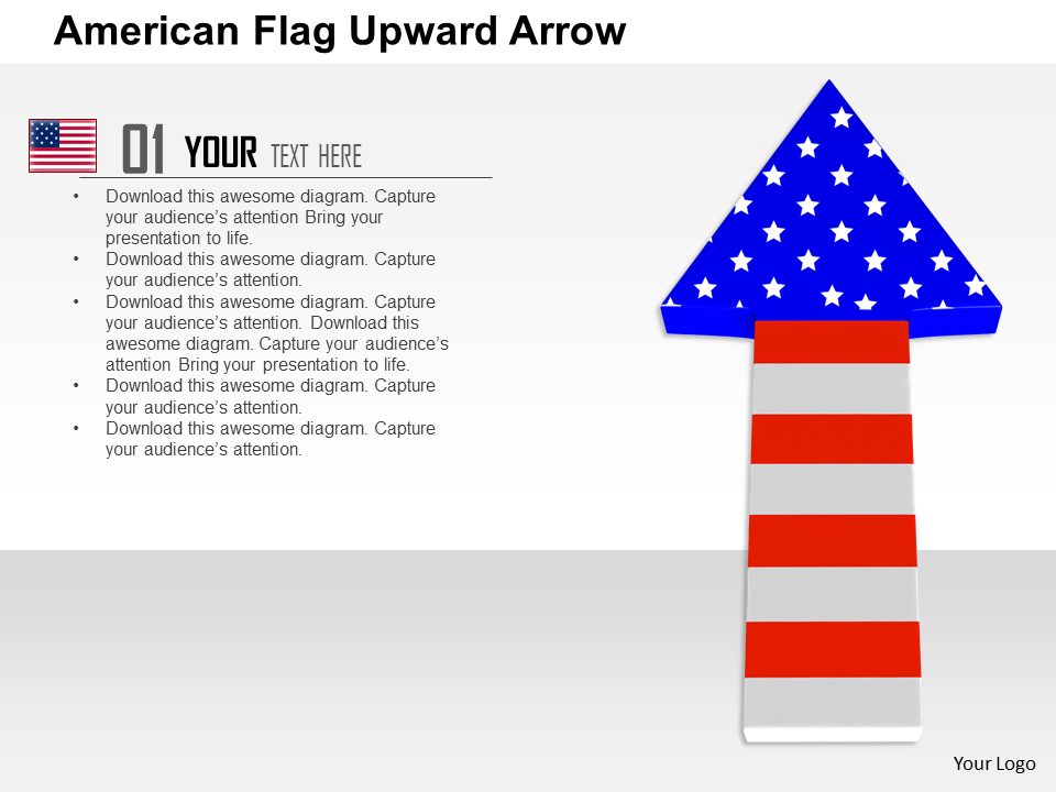American Flag Upward Hero