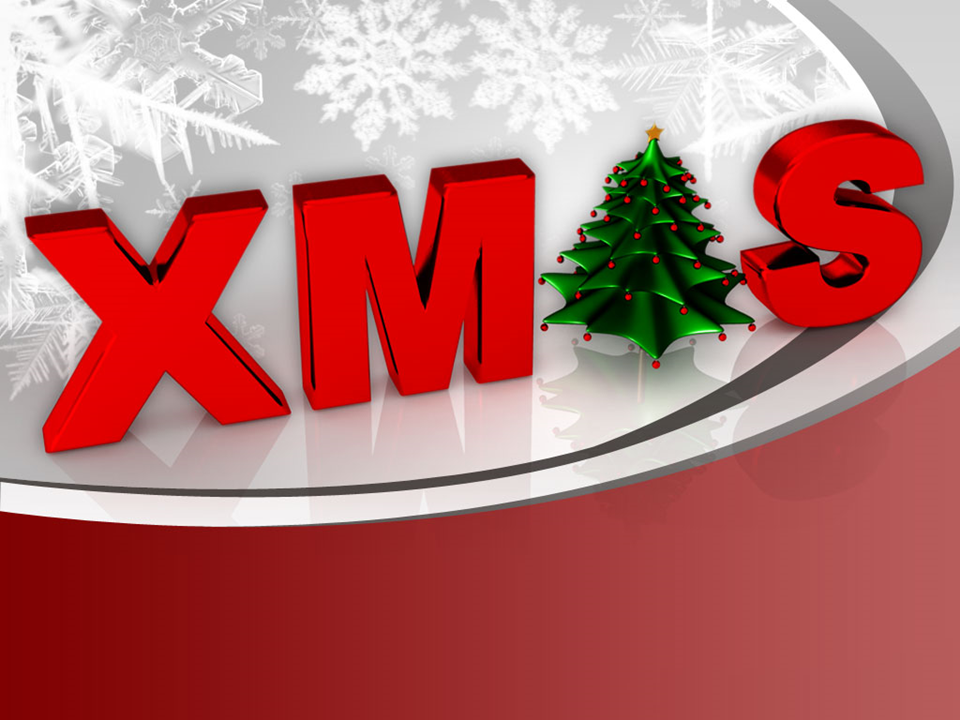 Christmas Winter Background PowerPoint Template