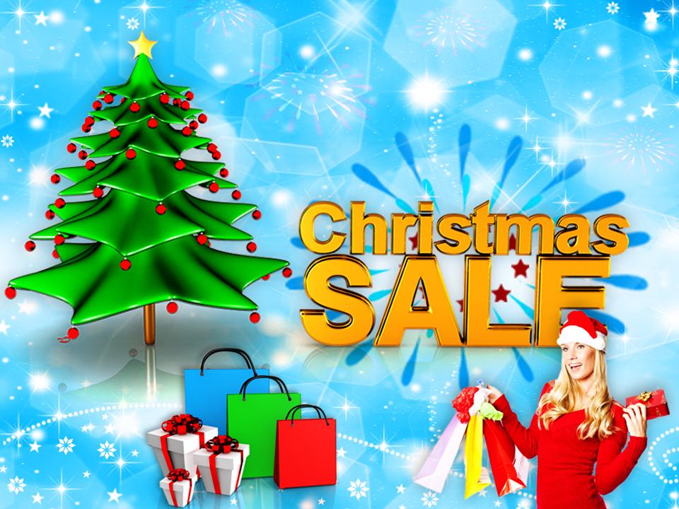 Holidays Christmas Tree Sale Shopping