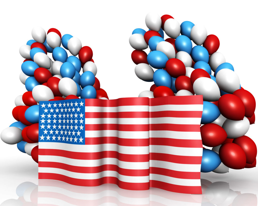 Colorful Balloons With American Flag
