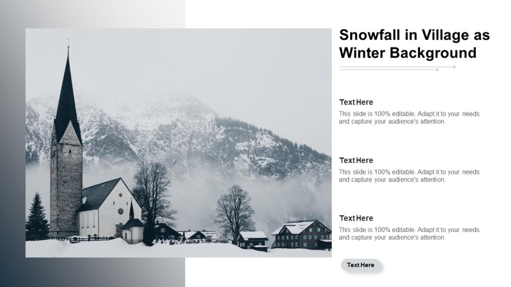 Snowfall In Village
