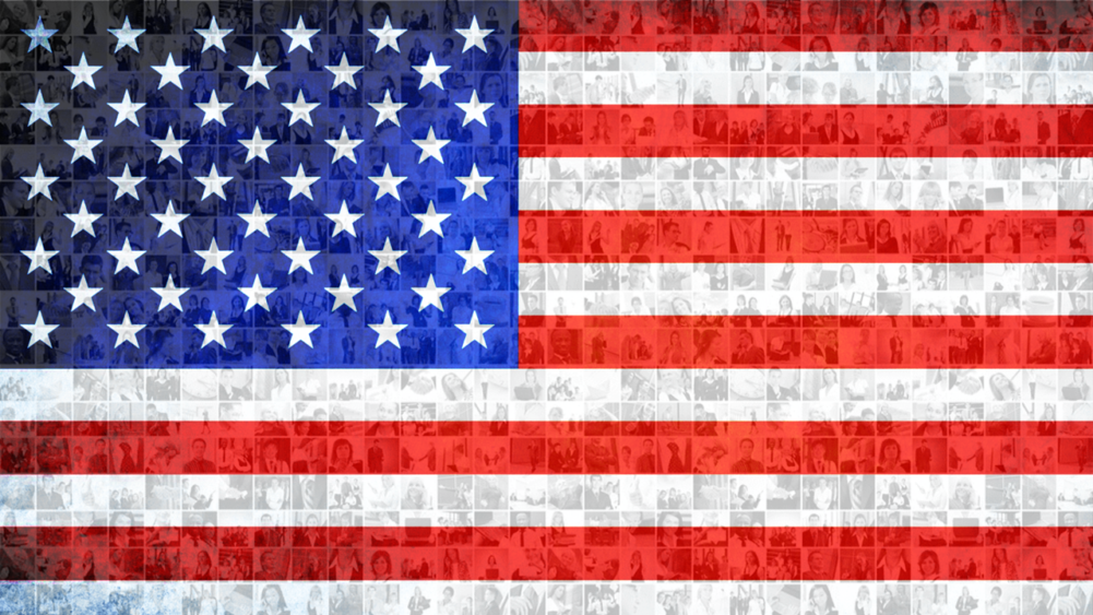 American Flag Photo Mosaic