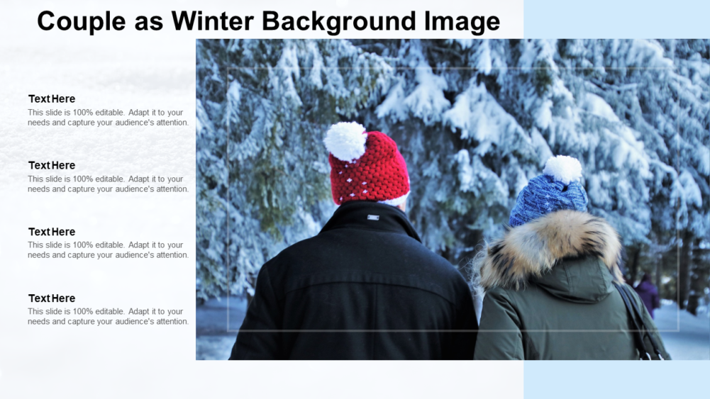 Couple As Winter Background