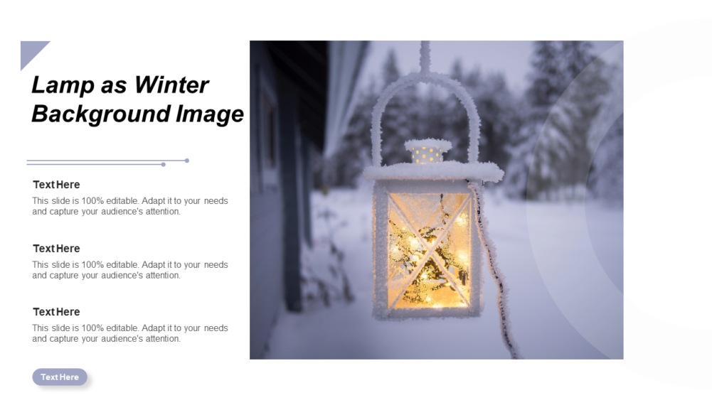 Lamp As Winter Background
