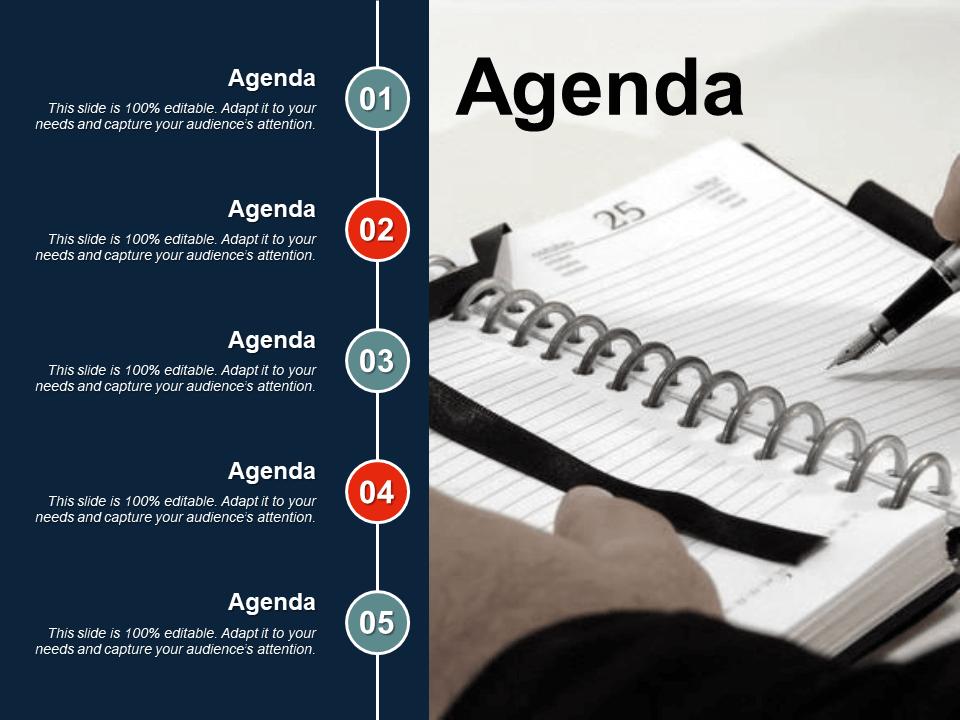 Agenda Free PowerPoint Template