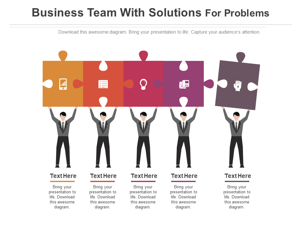 Business Team with Solutions Free PPT Template