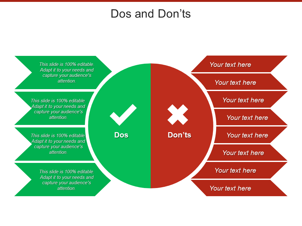 Dos and Don'ts Free PowerPoint Template