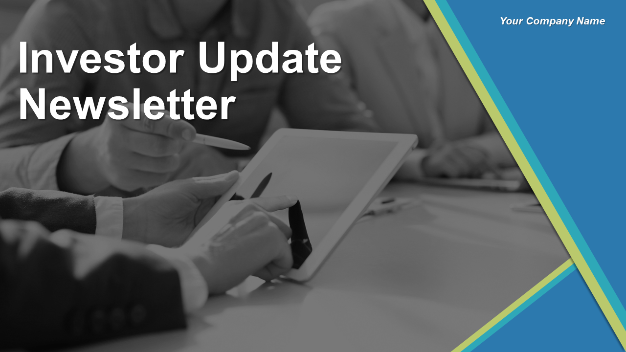 Investor Update Newsletter