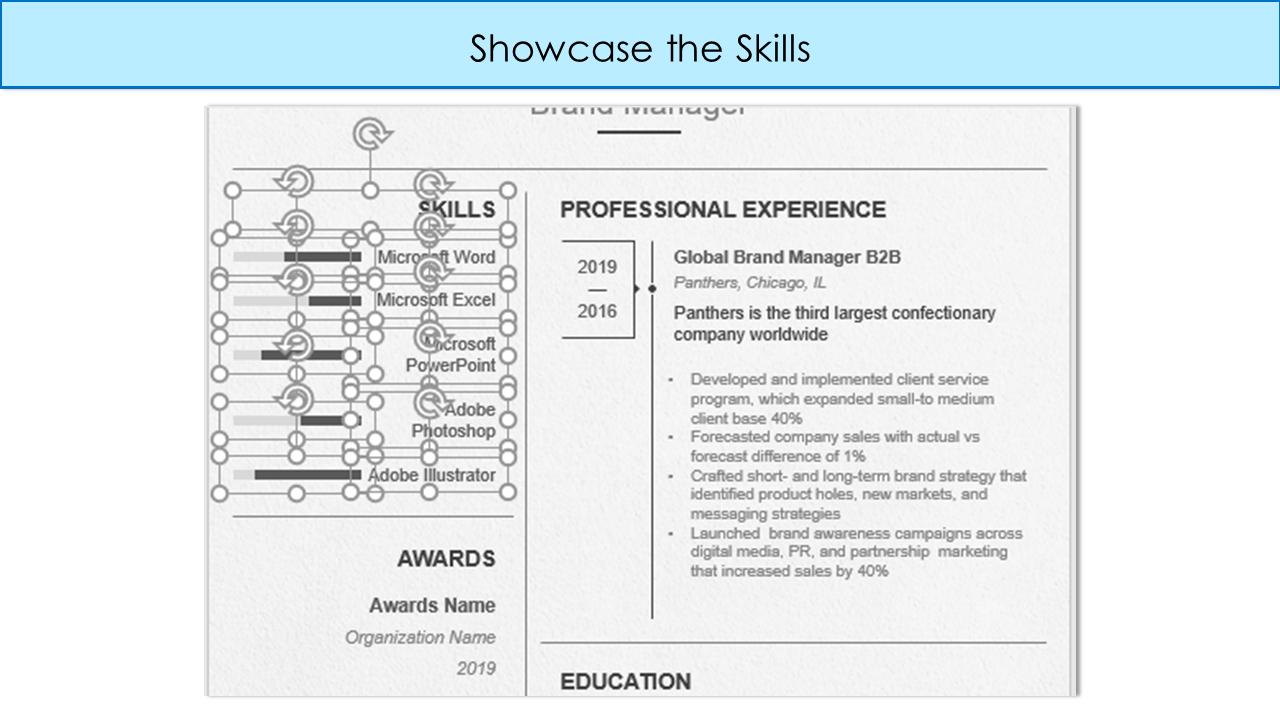 List your Skills