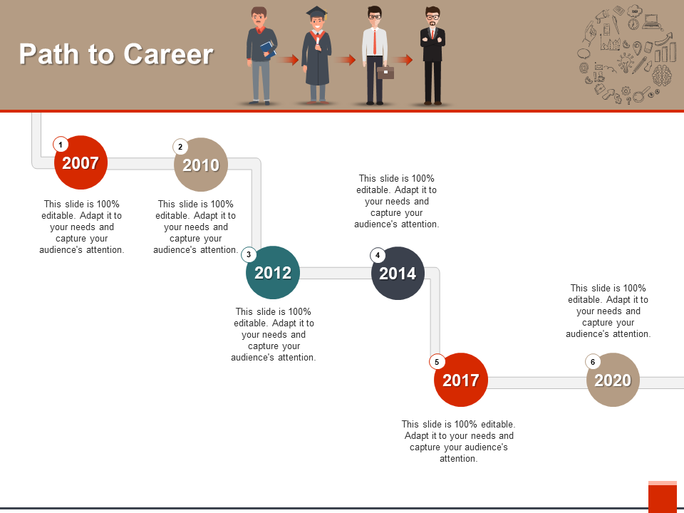Path to Career Free PowerPoint Template
