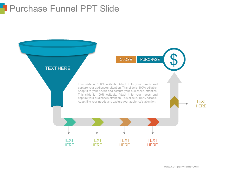 Purchase Funnel Free PPT Template