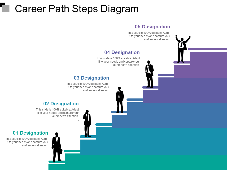 Steps Free PowerPoint Template