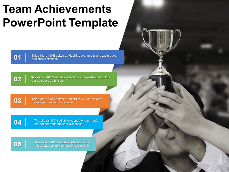 Team Achievements Free PowerPoint Template