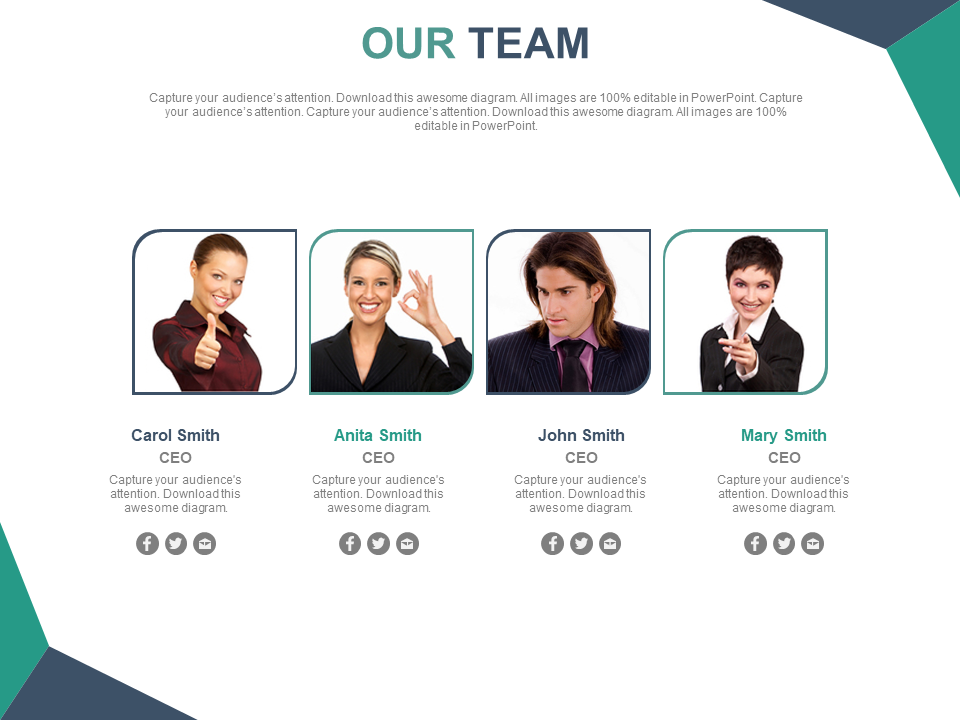 Team Introduction Free PPT Template
