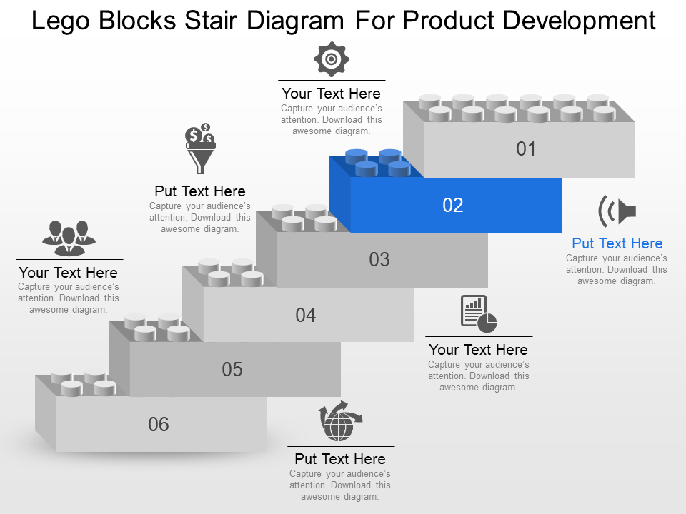 Lego Blocks Stair Diagram