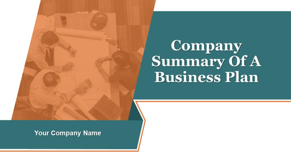 Company Summary Of Business Plan
