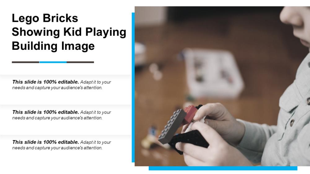 Lego Bricks Showing Kid Playing