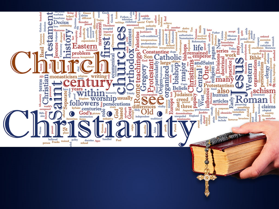 Christian Word Cloud Religion PowerPoint Template