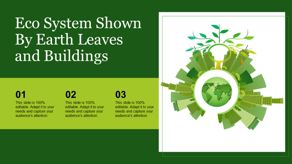 Eco System Shown By Earth Leaves