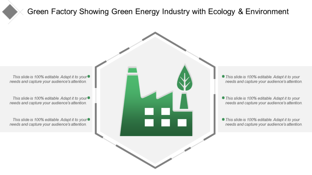 Green Factory Showing Green Energy Industry