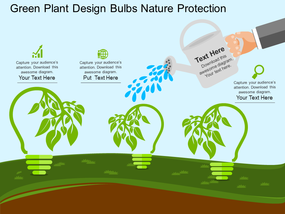 Green Plant Design Bulbs Nature Protection